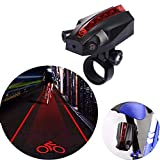 SUNMENCO Cycling Projector Taillight Logo Projection Bike Laser Warning Light Tail Lamp Bicycle Laser Tail Light Beam Rear Safety Warning Light