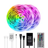 BAILONGJU LED Strip Lights, 50ft 15m Non-Waterproof Color Changing Light Strip Kit with Remote...
