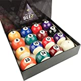 JaperBees PRO Standard Pool Table Billiard Ball Set, Regulation Size Resin Ball …