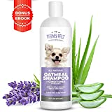 2-in-1 Oatmeal Dog Shampoo and Conditioner  All Natural Relief for Itchy, Dry, Sensitive Skin with Soothing Aloe Vera + Baking Soda + pH balanced. Get Smelly Dogs Coat Fresh and Moisturized, 16 oz