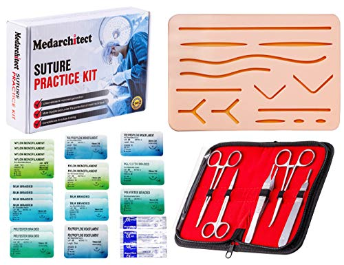 Suture Practice Kit (30 Pieces) for Medical Student Suture...