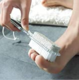 Dusenly Cepillo de pedicura con piedra pómez 4 en 1 Combinación de depurador de pies Pedicura...