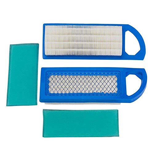 HEYZLASS 2 Pack 698083 697153 Air Filters with Pre Filter, Compatible with John Deere GY20573 Craftsman Lawn Mower Air Filter