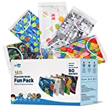 WeCare Disposable Face Masks For Kids, 50 Printed Fun Pack, Individually Wrapped