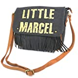 Little Marcel [P2639] - Sac créateur 'Little Marcel' Noir doré (Franges) -...