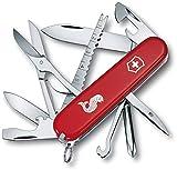 Victorinox Taschenmesser Fisherman (18 Funktionen, Angellöser, Schere, Klinge, Fischentschupper, Schere, Massstab) rot
