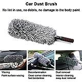 Brosse à poussière pour voiture pour intérieur et extérieur - Brosse à...