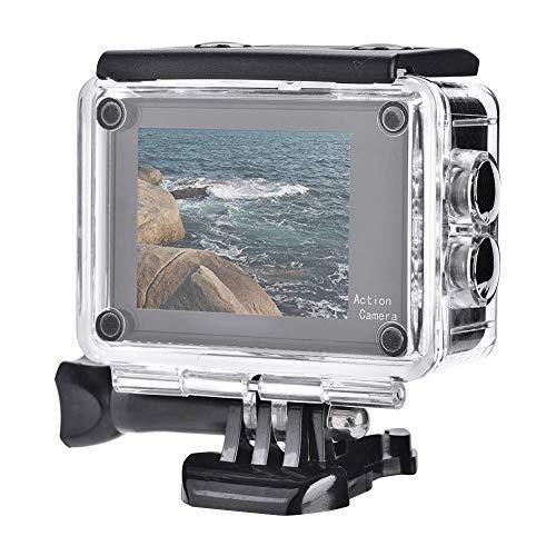 Action Cam Dual Touchscreen, 130  grandangolo Action Camera 4K Ultra HD 12MP WiFi Telecomando, set di telecamere sportive anti-agitazione per la visione notturna incl.Accessori alloggiamento telecoma