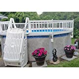 Vinyl Works 24-Inch Taupe Premium Resin Above-Ground Pool Fence Base Kit A - 8 Sections