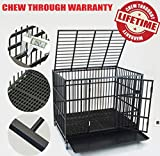 Homey Pet 43' Bar Style Extra Heavy Duty Cage with Tray and Casters (Plastic Flooring Cage)
