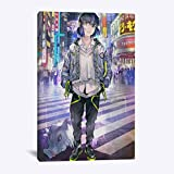 wZUN Arte de la Pared impresión de la Lona Pintura Anime japonés decoración Imagen Pasillo Cartel de la habitación 45x60cm Sin Marco