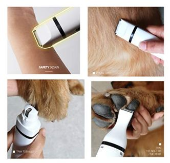 ROSE-CREATE-Electric-Pet-Nail-Grinder-Hair-Trimming-Clipper-Set-3-in-1-Rechargeable-Low-Noise-Pet-Foot-Hair-Clipper-Cordless-Pet-Grooming-Tool-for-Small-CatDog-White