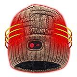 Autocastle Heated Hat Men Women Battery Heat Cap,7.4V Khaki