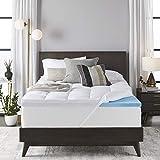 Sleep Innovations 4-inch Dual Layer Gel Memory Foam Mattress Topper, Queen, Enhanced Support