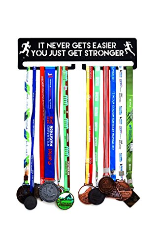 "FITIZEN It Never gets Easier You just get Stronger - 18"" Medal Hanger"