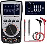 Oscilloscope Multimeter, 2-in-1 Intelligent Digital Scope Meter Multimeter, Professional LED Handheld Oscilloscope Multimeter with 200ksps A/D Automatic Waveform Capture Function