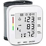 MMIZOO Blood Pressure Monitor Large LCD Display & Adjustable Wrist Cuff 5.31-7.68 inch Automatic 90x2 Reading...
