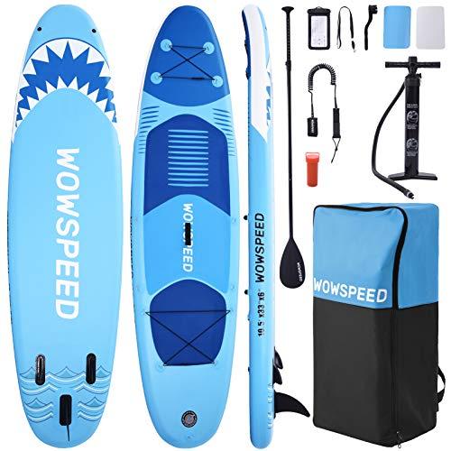 CosHall SUP Gonfiabile, Tavola Gonfiabile da Stand Up Paddle, 320×84×15cm Kayak Gonfiabile, Fino a 130kg capacità di carico, Tutti Gli Accessori, per Tutti Livelli (A)