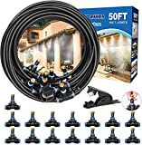 Misters for Outside Patio, 50FT Outdoor Misting System. Patio Mister for Cooling. Water Mister Hose...