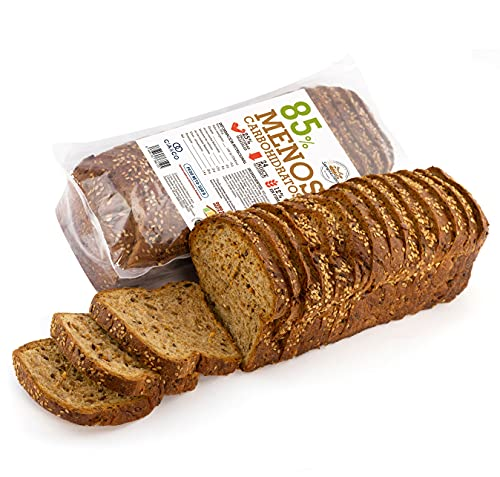 Pan Proteico SiempreTierno XXL 500 grs · Pan Keto Proteinado Bajo en Carbohidratos · 25% de Proteínas · Ideal dietas Hipocalóricas y Altas en Proteínas KETO · Dura hasta 270 días sin frio.