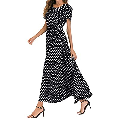 👗Attention:The Polka Dots print is random, we couldn't guarantee the position of floral print on each dress, but they are definitely made of same pattern fabric. 👗Fabric:Polyester and Spandex blend, Super soft, stretchy and lightweight, Can be easily...
