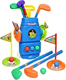 Kiddie Play Kids Golf Clubs Set Toy for Toddlers Age 2 3 4 5 Years