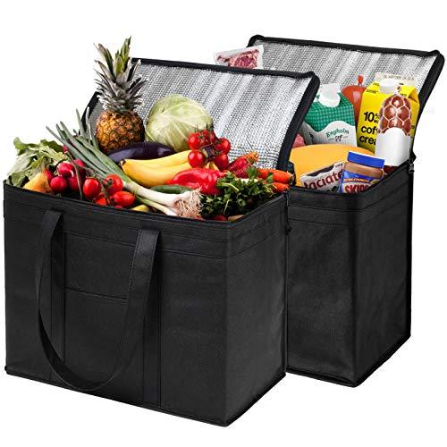 NZ Home - 2 unidades aislante reutilizable bolsa de la compra, tamaño...