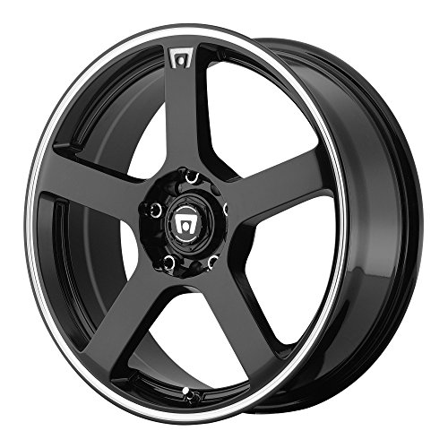 Motegi Racing MR116 Gloss Black Wheel With Machined Flange (17x7'/5x100, 114.3mm, +40mm offset)