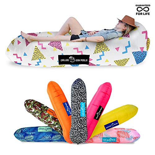 Chillbo Don POOLIO - Colchón Flotante Hinchable para Piscina, diseño Flotante, Color Morado
