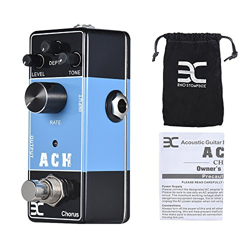 ammoon ACH Chorus Effect Pedal Acoustic Guitar Effects Pedal Series Full Metal Shell True Bypass ENO