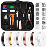 Thrilez Jewelry Wire Wrapping Jewelry Making Supplies Kit with Craft Ring Wire, Jewelry Tools,...