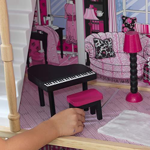 Image 4 - Kidkraft - 65093 - Maison de Poupées en Bois Amelia Incluant Accessoires et Mobilier, 3 Étages de Jeu pour Poupées 30 cm