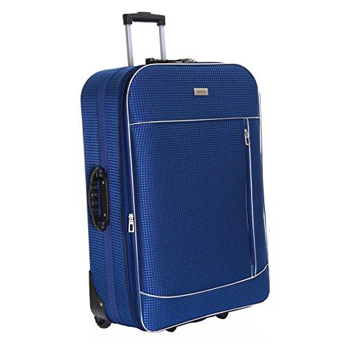 Slimbridge Rennes XL 77 cm valigia espandibile con 3 anni di garanzia, Blu