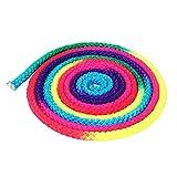 Alomejor Gymnastikseil Regenbogen Farbe Rhythmische Gymnastikseil Feste Wettbewerbskunst Trainingsseil
