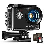 Dragon Touch Caméra Sport 4K Vision 4 Lite Ultra HD Wi-FI 20 MP avec Télécommande,Appareil Photo...
