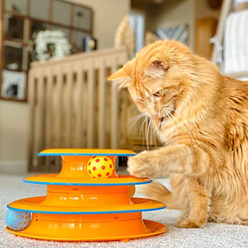 Petstages Tower of Tracks Interactive 3-Tier Cat Toy