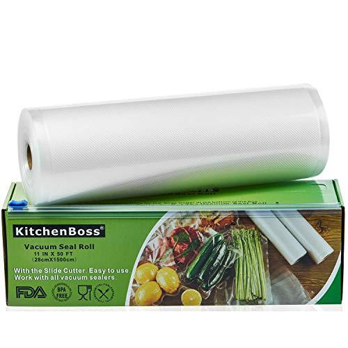 KitchenBoss Sacchetti Sottovuoto per Alimenti,1 Pezzi da 28x1500 cm, (Non pi forbici) Rotoli Sacchetti goffrati,per Conservazione Alimenti e Cottura Sous Vide