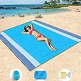 HISAYSY Stranddecke Picknickdecke 210 x 200 cm Strandmatte Sandfrei Wasserdicht Picknickdecke Outdoor Decke für den Strand,Campen,Wandern-Tragbar Schnelltrocknend Sandfrei Wasserdicht