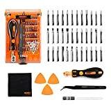 Screwdriver Set 43 in 1 Precision Screwdriver Kit JAKEMY Magnetic Replaceable Bits Repair Tool Kit Opening Tool and Tweezer for iphone Cellphone PC Electronics