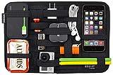 Cocoon GRID-IT - Taschen Organizer / Elastische Bänder / Elektronik Zubehör / Organizer für Aktentasche / Multifunktionales Organisationssystem mit Reißverschluss & Schlaufe – Schwarz / 30,5x1x20,3cm