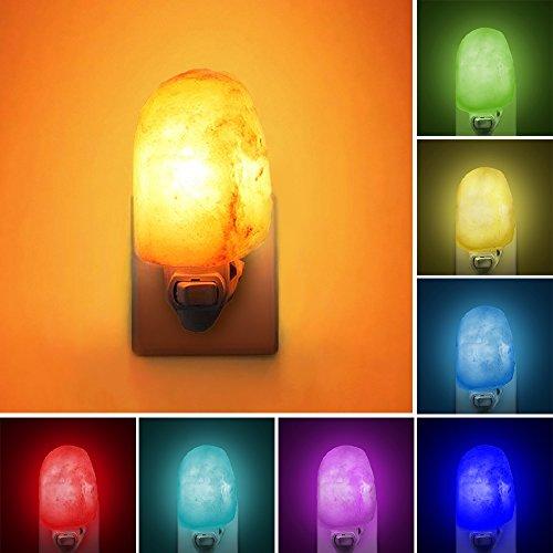 Natural Himalayan Salt Lamp, Waynewon Plug in Hand Carved Crystal Night Light – Best Living Room, Bathroom,...