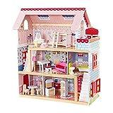 KidKraft- Maison de Poupées en Bois Chelsea Incluant Accessoires et Mobilier 3 Étages de Jeu, 65054, 30 cm