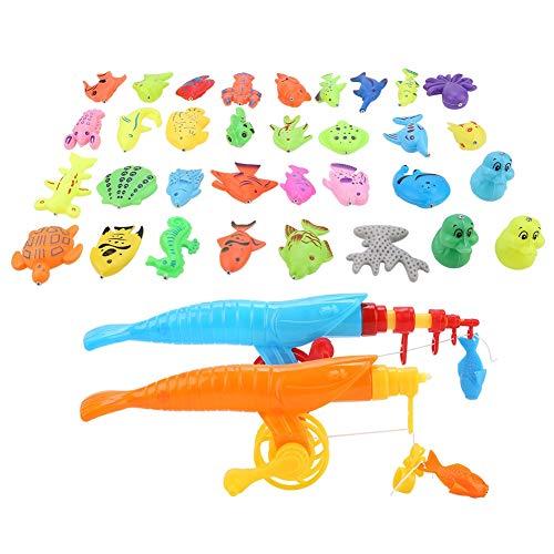 VGEBY1 39Pcs Giocattolo di Pesca, Gioco di Pesca Giocattolo Magnetico Set Giocattolo educativo Canna da Pesca + Rete da Pesca + Toy Organismo per Bambini Baby