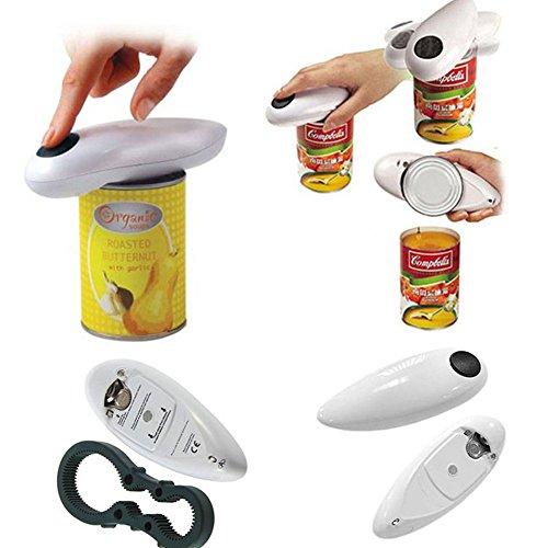 ZAK168 Elektrischer Dosenöffner, für Zuhause, Restaurant, automatischer elektrischer Dosenöffner, bestes Werkzeug für Küchenchef, Einheitsgröße, schwarz + weiß