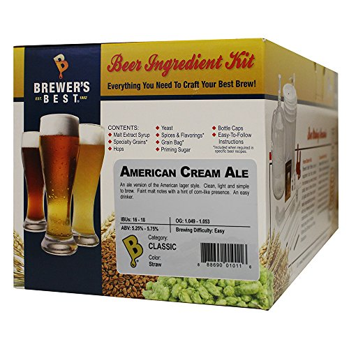 Brewer's Best - Home Brew Beer Ingredient Kit (5 Gallon), (American Cream Ale)