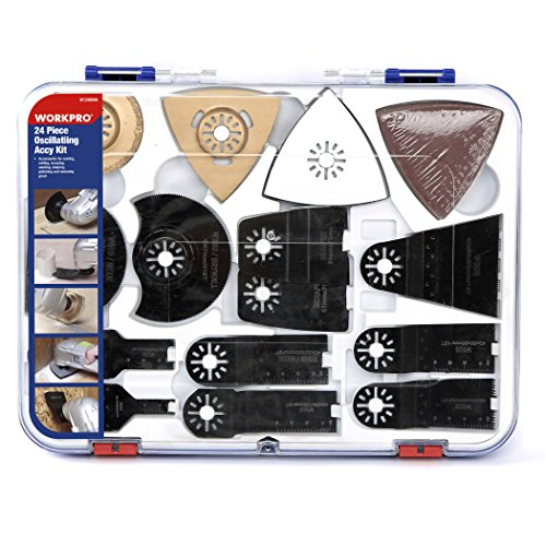 WORKPRO 24-Piece Oscillating Accessory Kit, Mixed Multitool Saw...