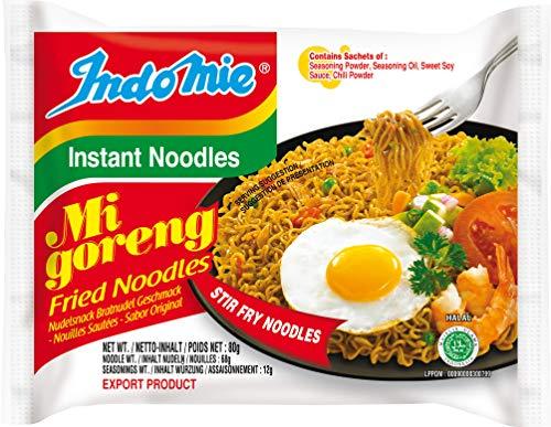 INDOMIE Instantnudeln Mi Goreng, aus Indonesien, schnelle, einfache Zubereitung – 40er Vorteilspack à 80 g