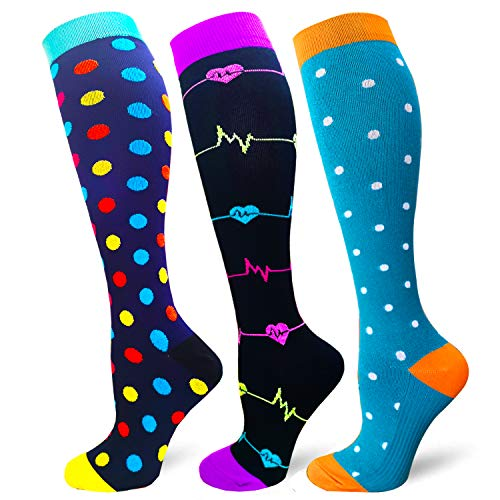 Compression Socks 3 Pairs for Women &...
