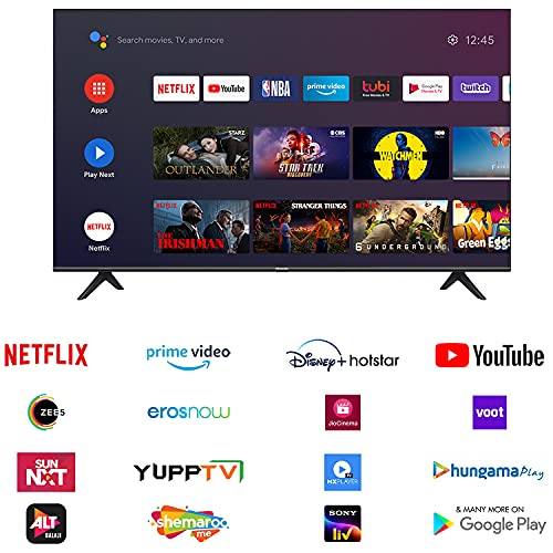 51KplYrQ91S Hisense 108 cm (43 inches) 4K Extremely HD Sensible Licensed Android LED TV 43A71F (Black) (2020 Mannequin)   With Dolby Imaginative and prescient and ATMOS