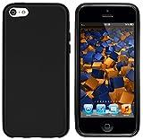 mumbi Coque compatible avec iPhone 5c Cas de téléphone portable, noir mat